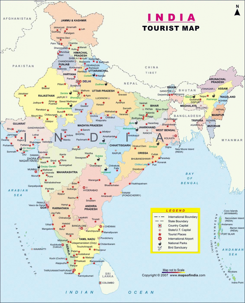 India Maps | Printable Maps Of India For Download within India Map Printable Free