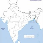 India Political Map In A4 Size Within Physical Map Of India Blank Printable
