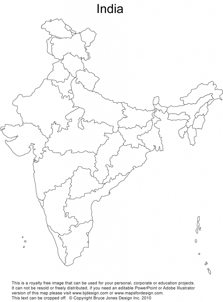 India Printable, Blank Maps, Outline Maps • Royalty Free throughout India Map Printable Free