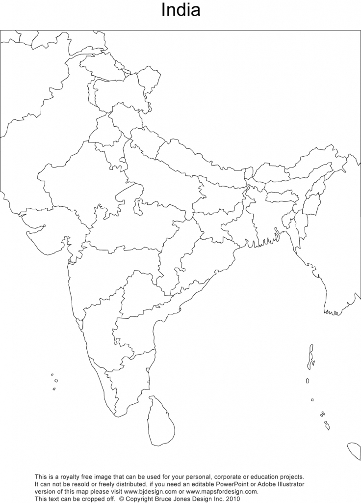 India Printable, Blank Maps, Outline Maps • Royalty Free within Political Outline Map Of India Printable