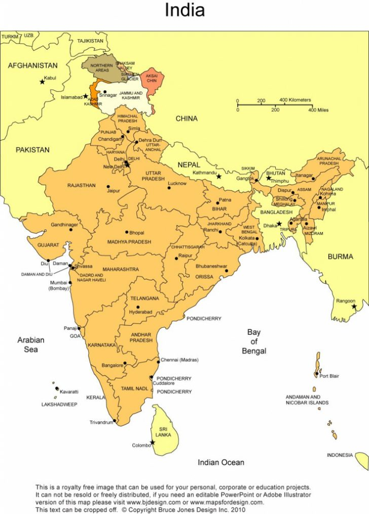 India Map Printable Free