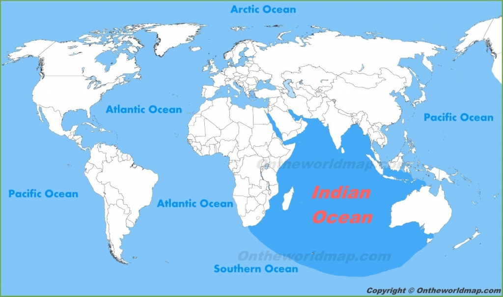 Indian Ocean Location Map At World Oceans With 2 - World Wide Maps with World Ocean Map Printable