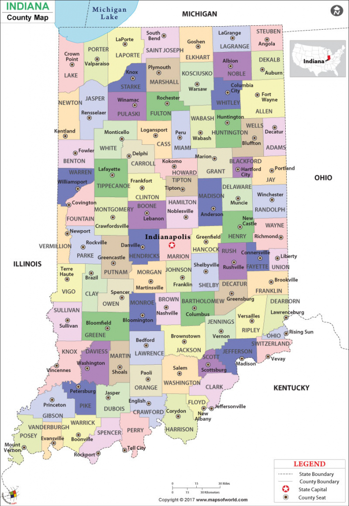Indiana County Map | Indiana Counties in Indiana County Map Printable