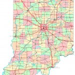Indiana Printable Map Inside Printable Map Of Indiana