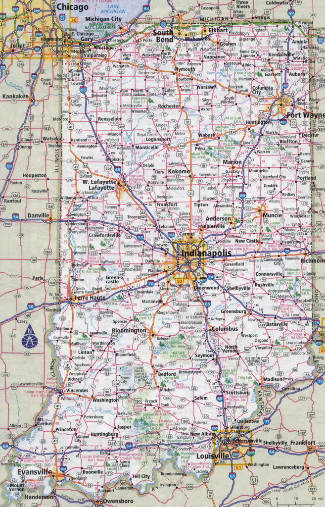 Indiana State Map Printable | Printable Maps throughout Printable Map Of Indiana