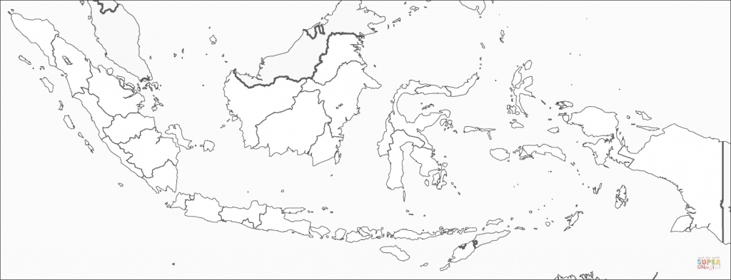 Indonesia Map Coloring Page | Free Printable Coloring Pages for Printable Map Of Indonesia
