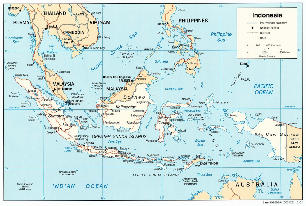 Indonesia Maps - Perry-Castañeda Map Collection - Ut Library Online with regard to Printable Map Of Indonesia