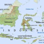 Indonesia Physical Map Pertaining To Printable Map Of Indonesia