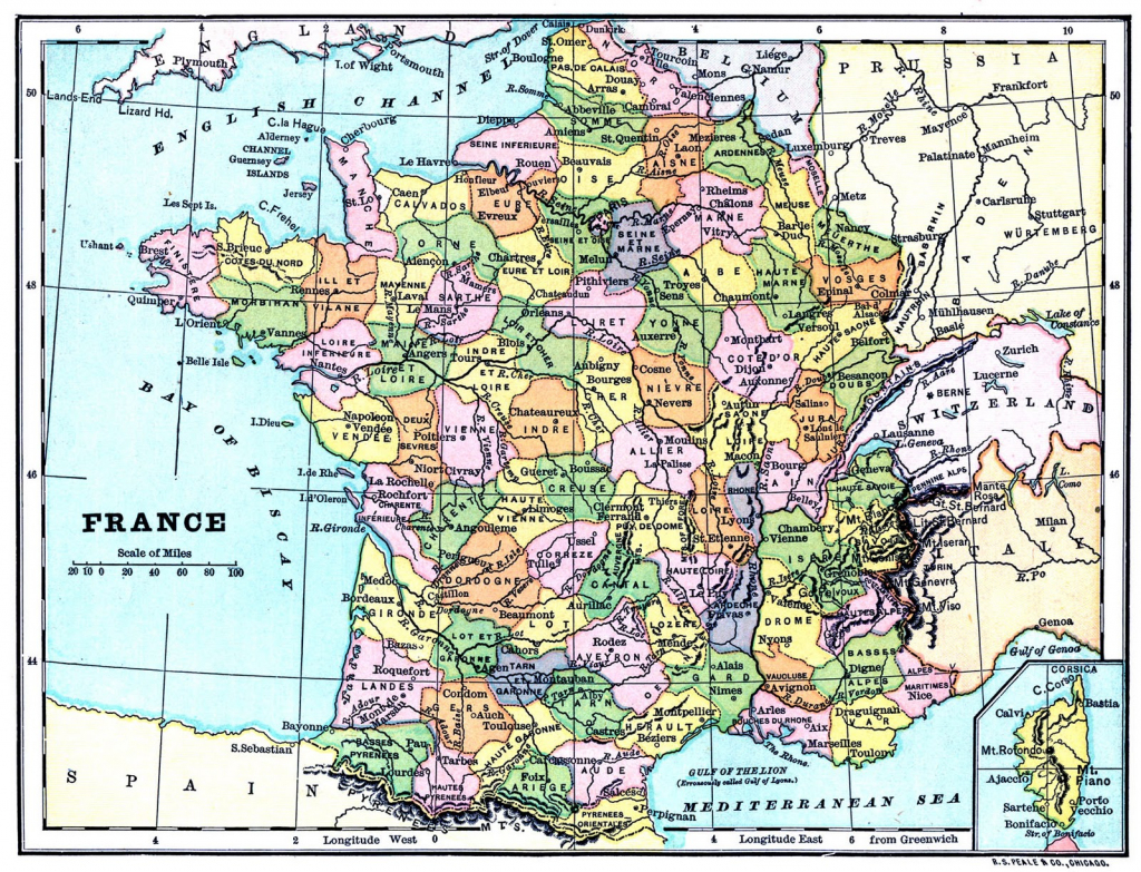Instant Art Printable - Map Of France - The Graphics Fairy pertaining to Printable Map Of France