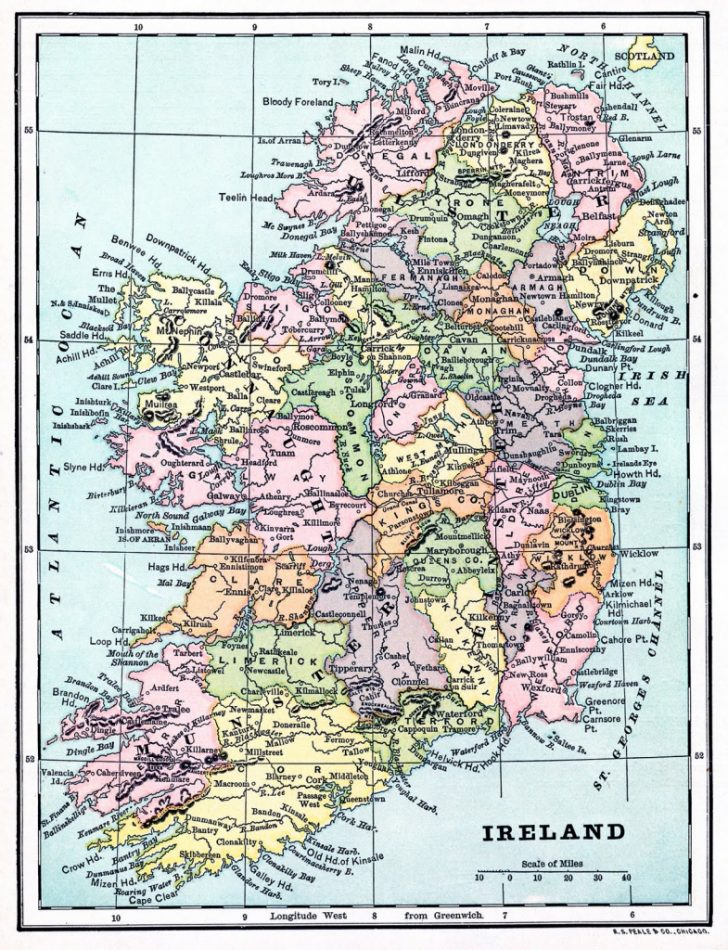 Printable Map Of Ireland