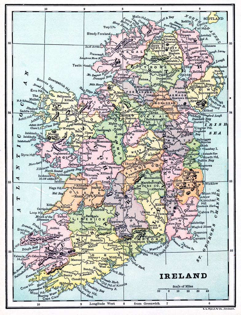 Instant Art Printable - Map Of Ireland - The Graphics Fairy with regard to Printable Map Of Ireland