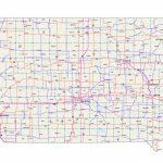 Iowa Maps – Iowa Map – Iowa Road Map – Iowa State Map With Map Of Regarding Printable Iowa Road Map