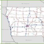 Iowa Road Map Inside Printable Iowa Road Map