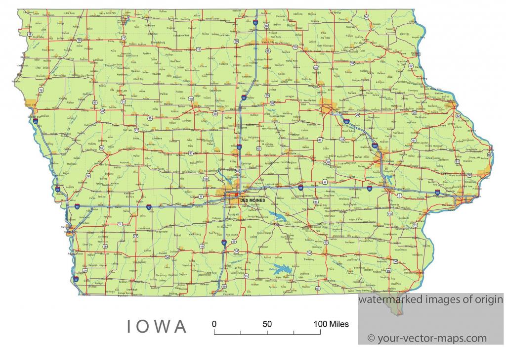Iowa State Route Network Map. Iowa Highways Map. Cities Of Iowa pertaining to Printable Iowa Road Map