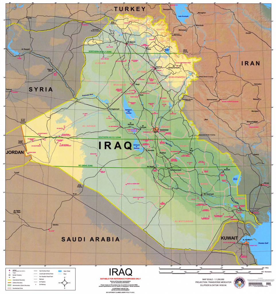 Iraq Maps - Perry-Castañeda Map Collection - Ut Library Online regarding Printable Map Of Iraq