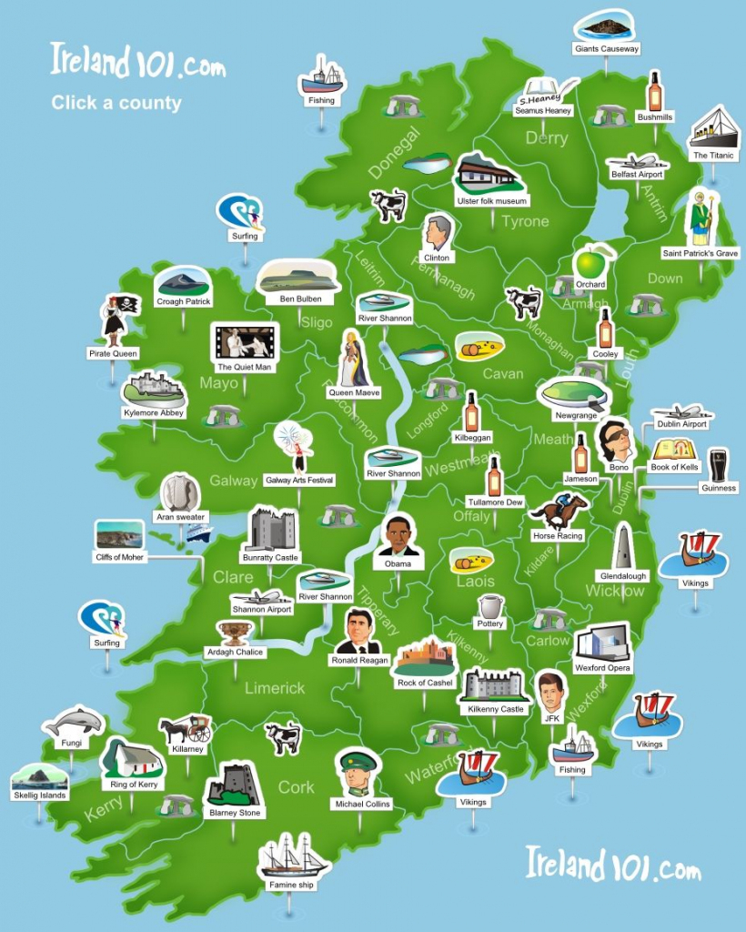 Ireland 101 - Map Of Ireland. Super Simplistic But Easy To Use At A inside Cork City Map Printable