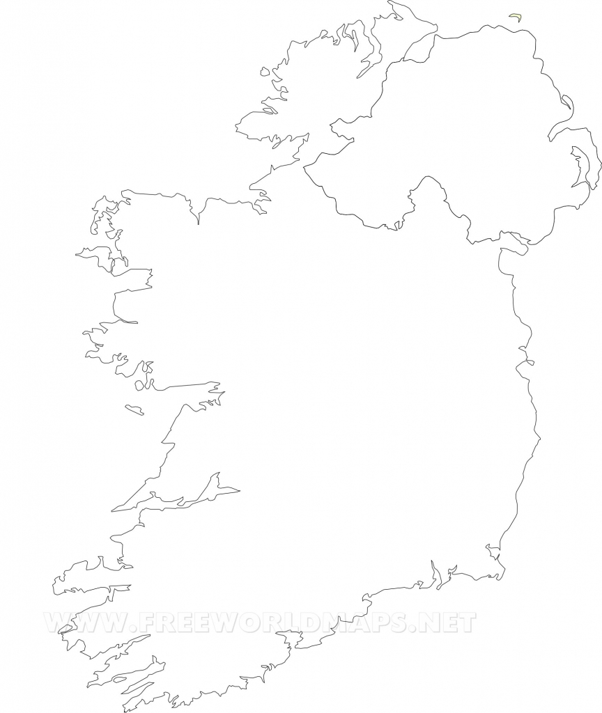 Ireland Political Map with regard to Printable Blank Map Of Ireland