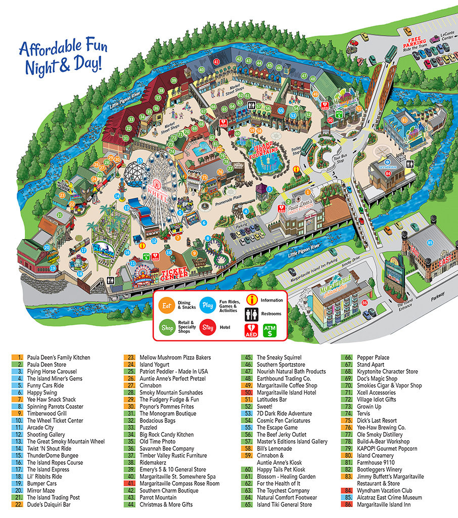Island In Pigeon Forge Map - The Island At Pigeon Forge with regard to Printable Map Of Pigeon Forge Tn