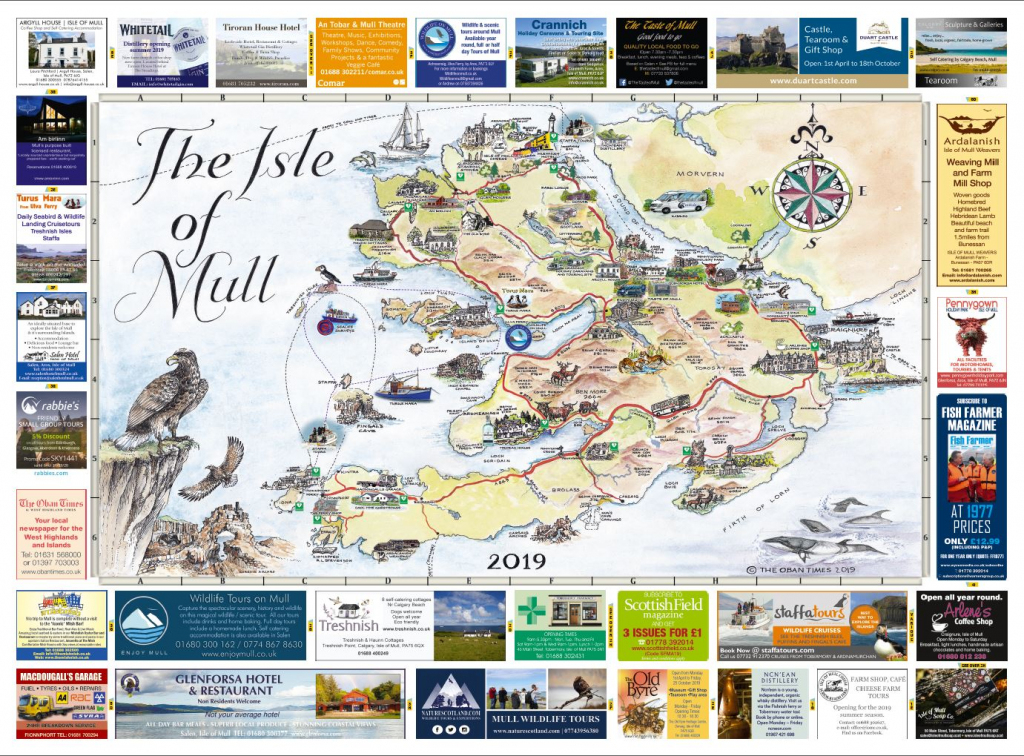 Isle Of Mull & Mull And Iona Maps 2019 | The Oban Times with regard to Printable Map Of Mull
