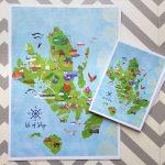 Isle Of Skye Illustrated Mapkate Mclelland Shop Regarding Printable Map Skye