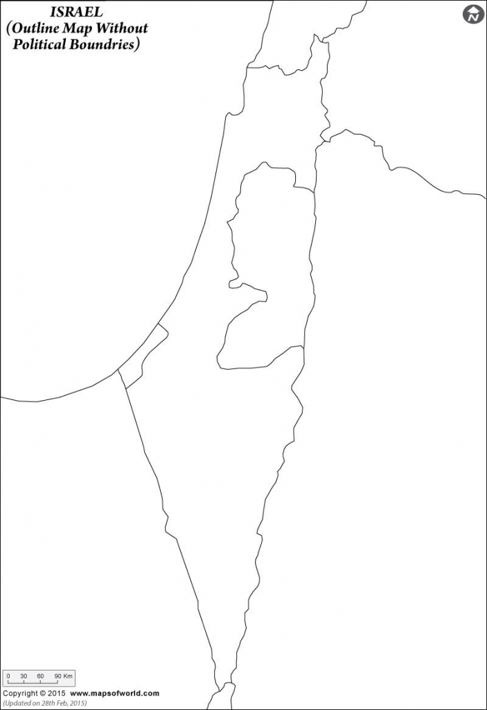 Israel Outline Map And Travel Information | Download Free Israel intended for Free Printable Map Of Israel