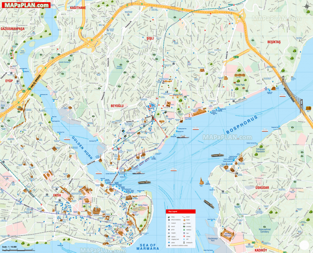 Istanbul Maps - Top Tourist Attractions - Free, Printable City in Europe Travel Map Printable