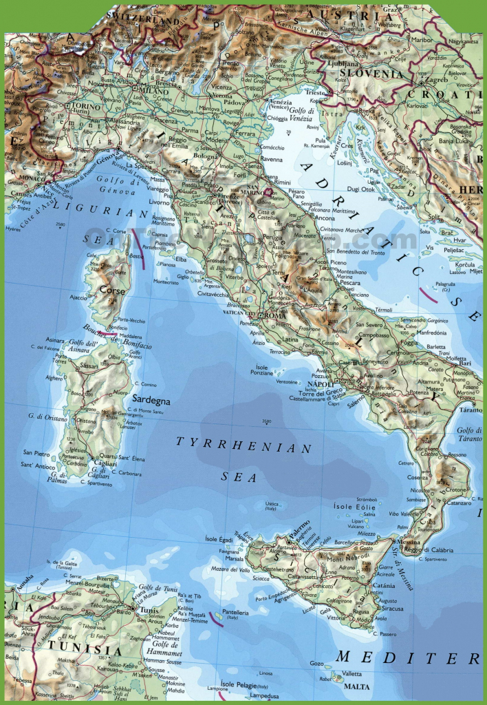 Italy Maps | Maps Of Italy within Large Map Of Italy Printable