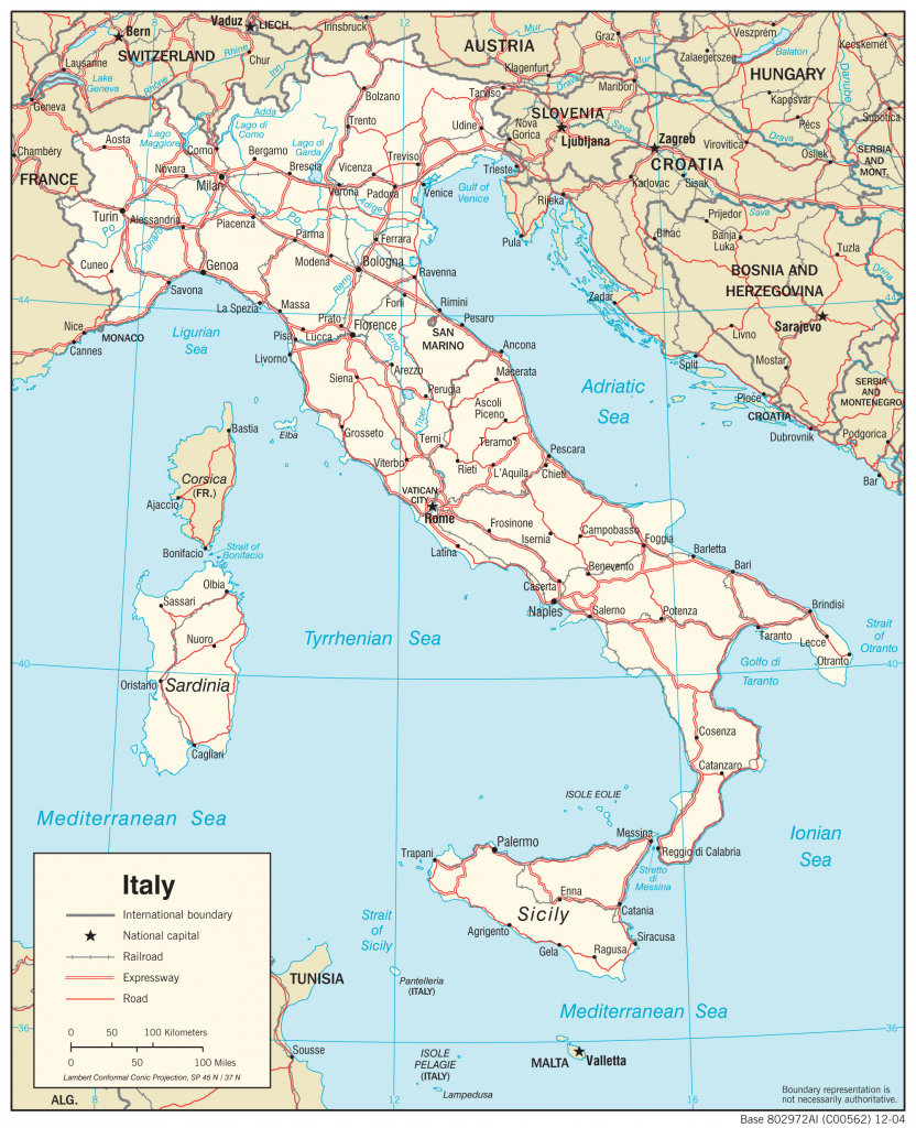 Italy Maps - Perry-Castañeda Map Collection - Ut Library Online inside Printable Map Of Northern Italy
