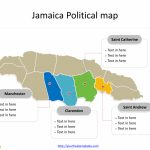 Jamaica Map Blank Templates   Free Powerpoint Templates In Free Printable Map Of Jamaica