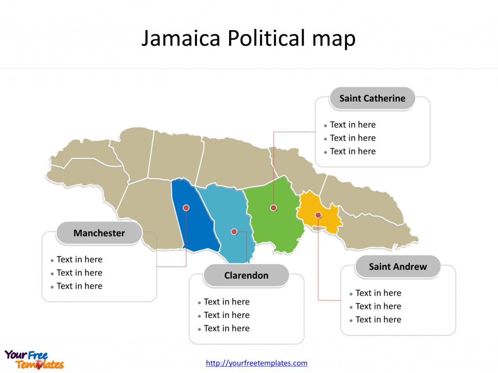 Jamaica Map Blank Templates - Free Powerpoint Templates in Free Printable Map Of Jamaica