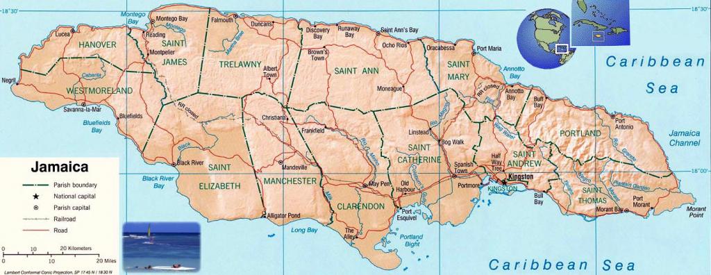Jamaica Maps | Printable Maps Of Jamaica For Download pertaining to Free Printable Map Of Jamaica