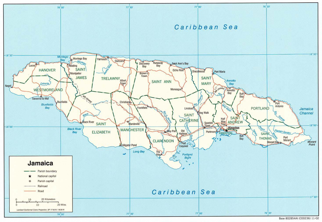 Jamaica Maps | Printable Maps Of Jamaica For Download regarding Printable Map Of Jamaica