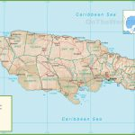Jamaica Political Map With Printable Map Of Jamaica