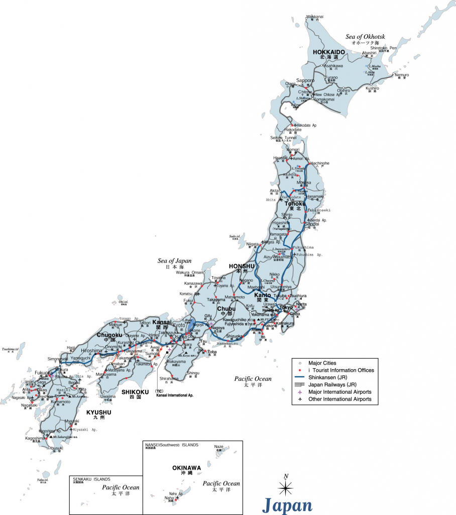 Japan Maps | Printable Maps Of Japan For Download for Printable Map Of Japan With Cities