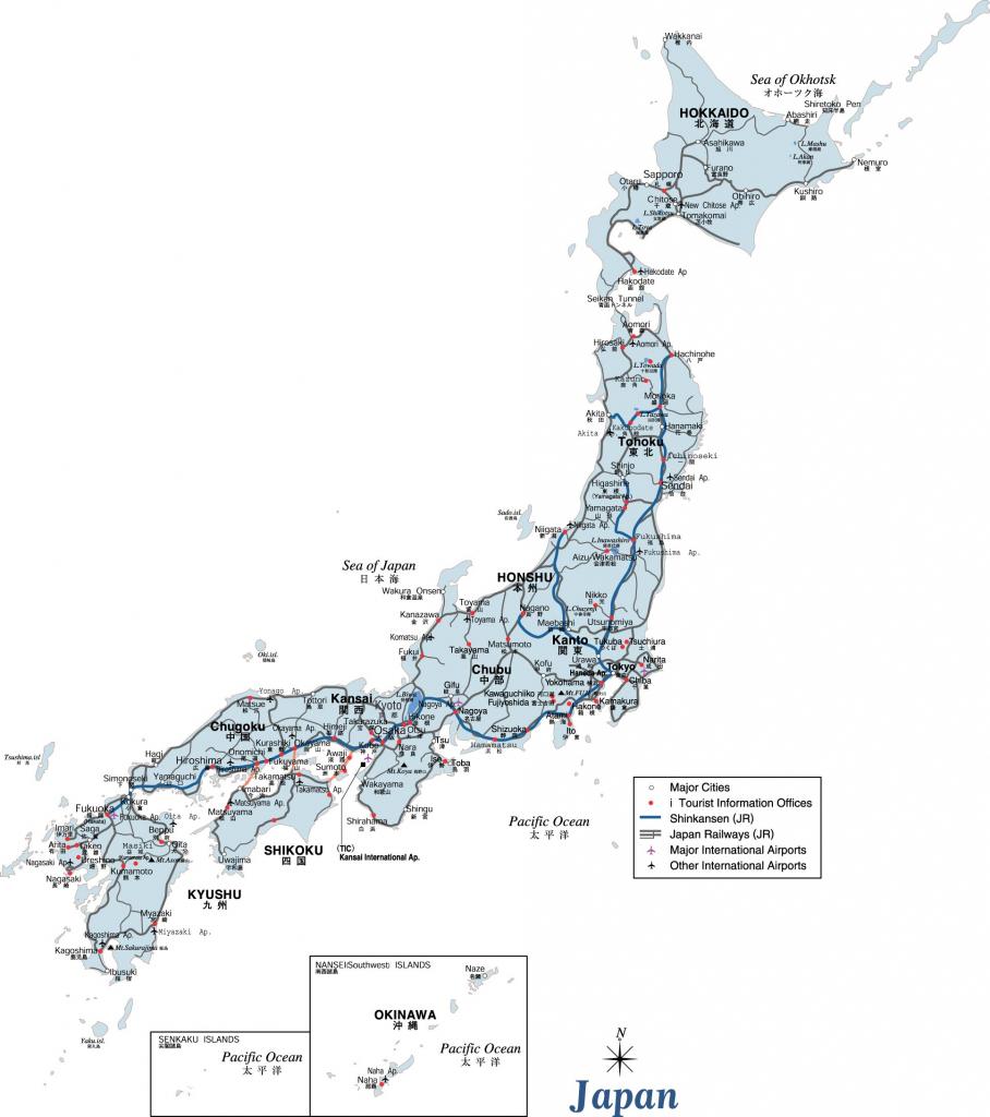 Japan Maps | Printable Maps Of Japan For Download intended for Printable Map Of Japan
