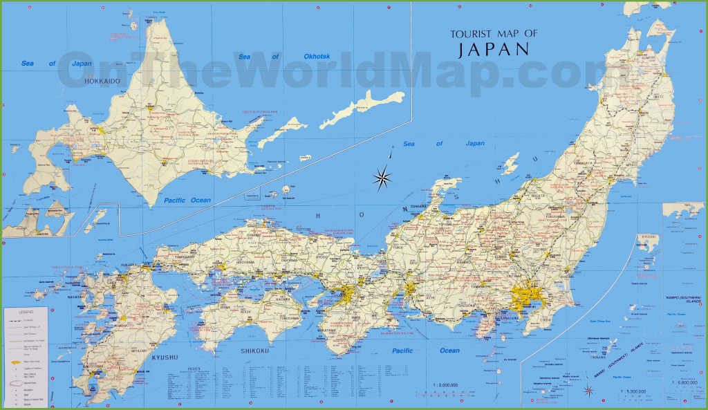 Japan Tourist Map with Large Printable Map Of Japan