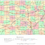 Kansas Printable Map Throughout Printable Kansas Map With Cities