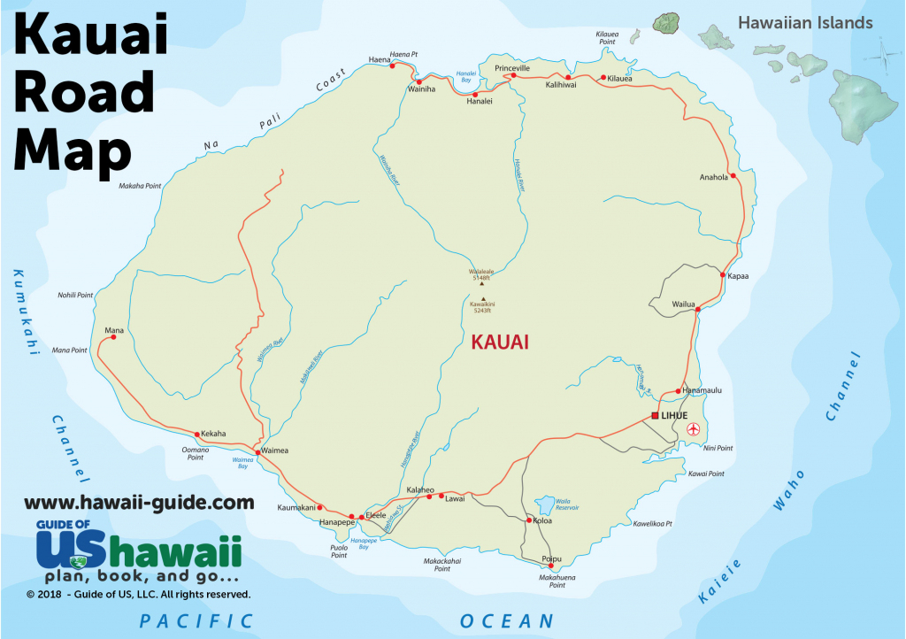 Kauai Maps throughout Printable Map Of Kauai