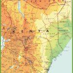 Kenya Road Map Regarding Printable Map Of Kenya