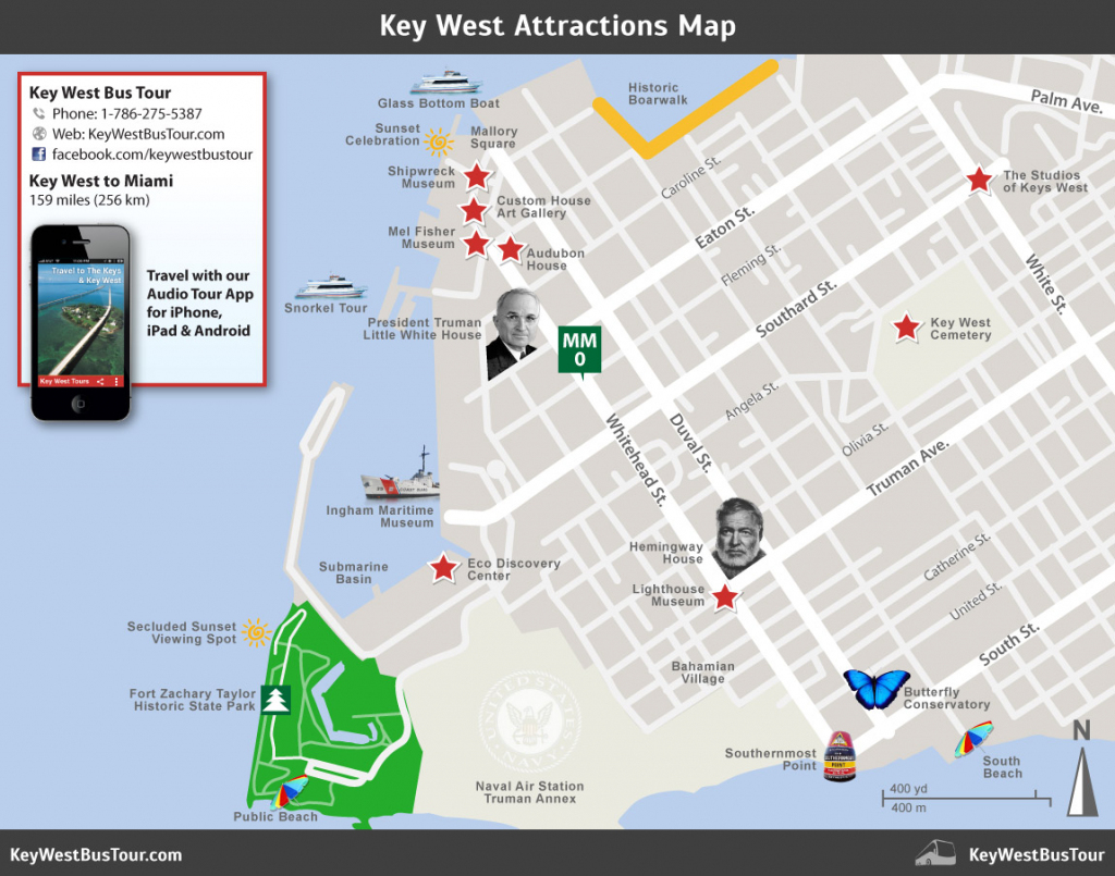 Key West Attractions Map :: Key West Bus Tour regarding Printable Map Of Key West