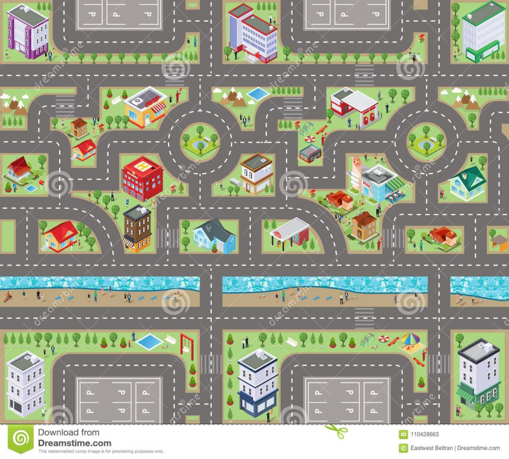 Kids Map Road Stock Illustrations – 442 Kids Map Road Stock pertaining to Printable Road Maps For Kids