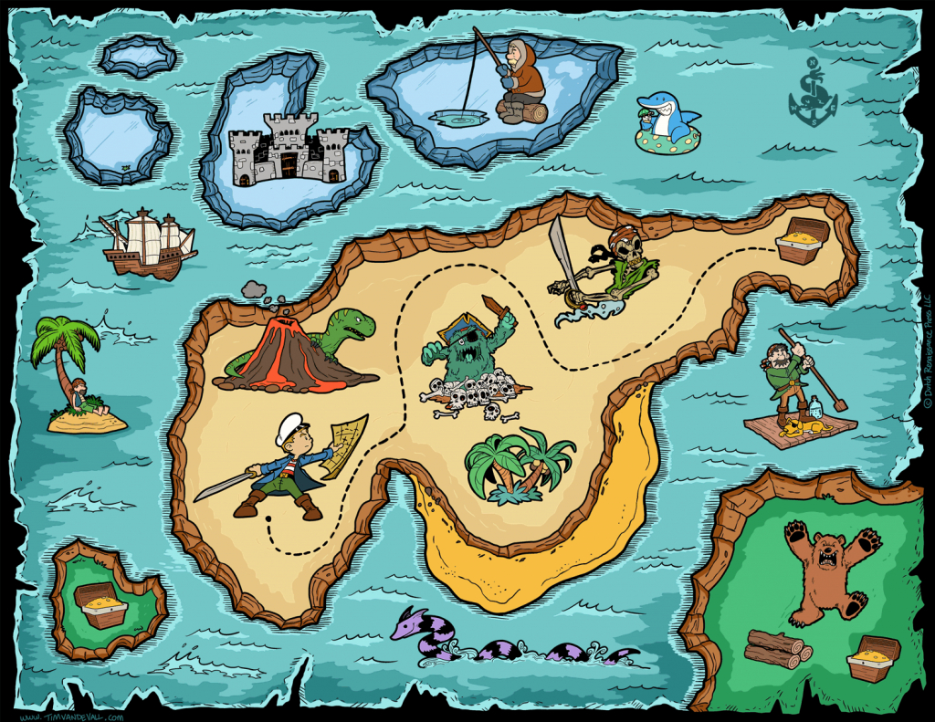 Kids Treasure Map | Compressportnederland intended for Printable Treasure Maps For Kids