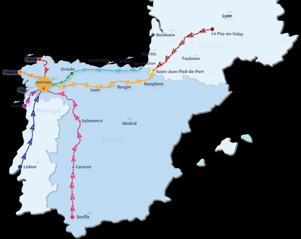 La Fitness Locations Us Map La Fitness Map Awesome Camino De inside Printable Map Of Camino De Santiago