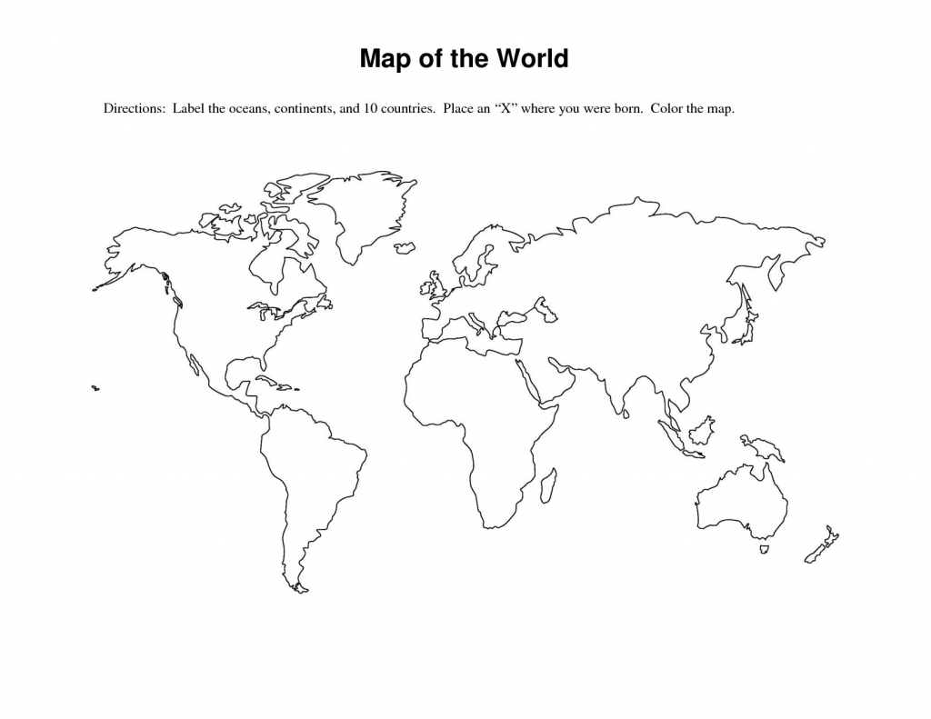 Labeled World Map Printable | Sksinternational throughout Printable World Map For Kids With Country Labels