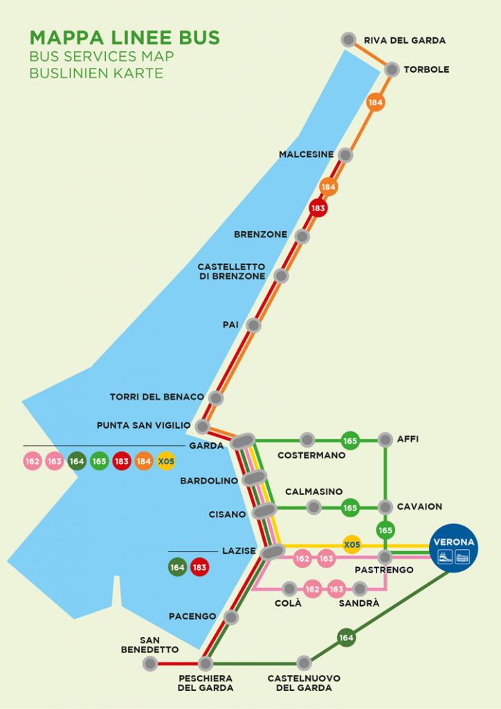 Lake Garda | New Bus Line From Verona To Riva Del Garda | Italy throughout Printable Map Of Lake Garda