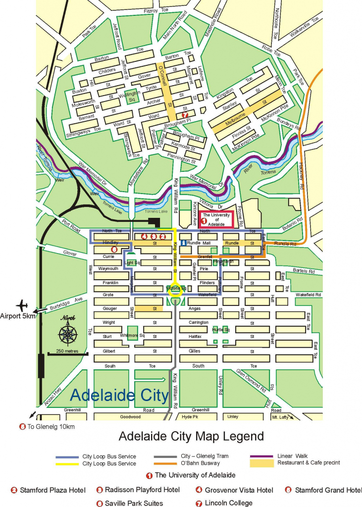 Large Adelaide Maps For Free Download And Print | High-Resolution intended for Printable Map Of Adelaide Suburbs