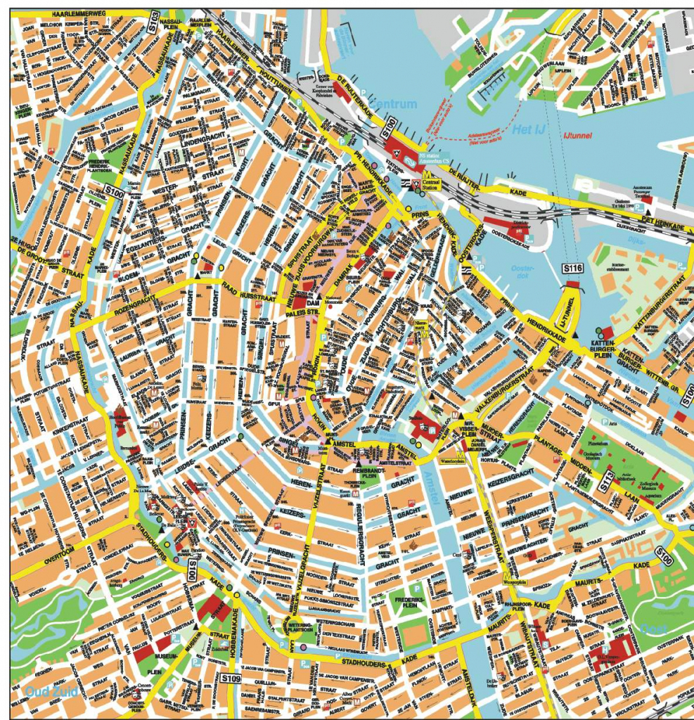 Large Amsterdam Maps For Free Download And Print | High-Resolution in Printable Map Of Amsterdam