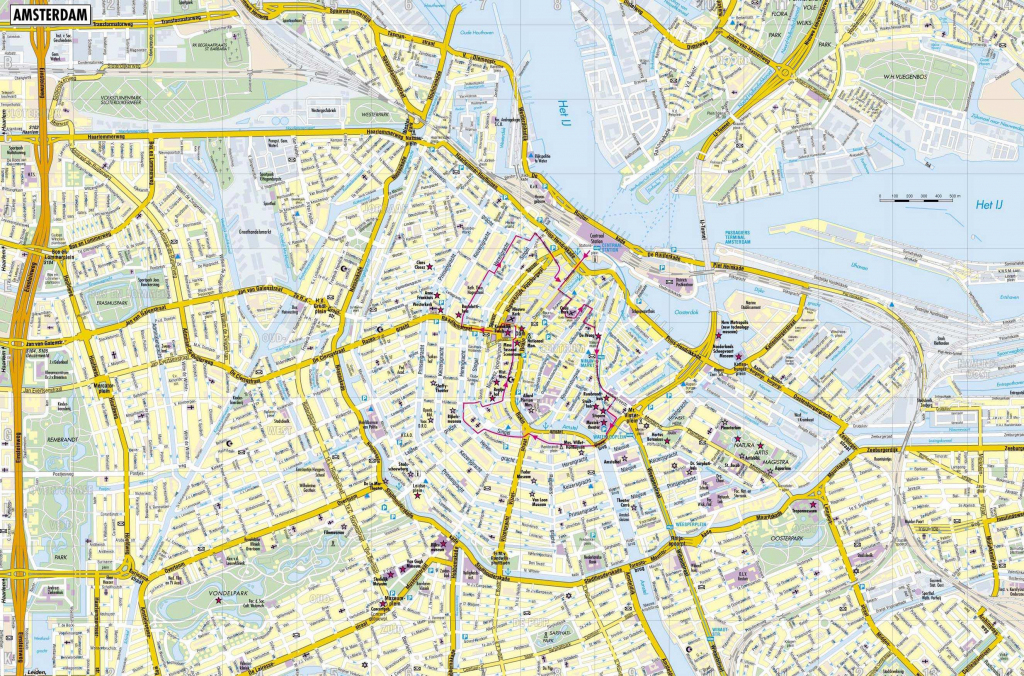 Large Amsterdam Maps For Free Download And Print   High-Resolution within Amsterdam Street Map Printable
