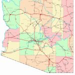 Large Arizona Maps For Free Download And Print | High Resolution And Inside Printable Map Of Tucson Az