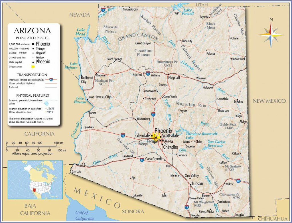 Large Arizona Maps For Free Download And Print | High-Resolution And pertaining to Phoenix Area Map Printable